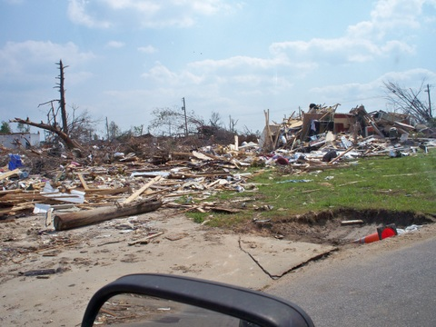 Tornado damage from April 27, 2011