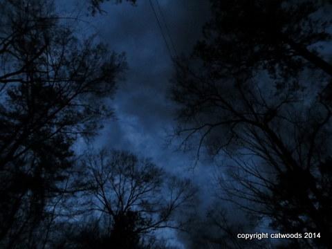 Spooky spring sky