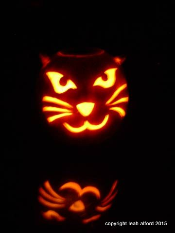 Pumpkin Kitty, based loosely on our Little Buddy